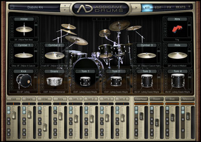 Главное окно XLN Audio Addictive Drums ADpak Metal Addon